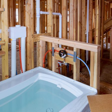 new bath installation, new house installation of plumbing, faucets, water and sewerage.